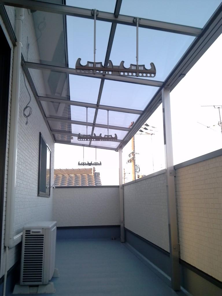 ベランダ テラス屋根設置 (四国化成・バリューテラスE)