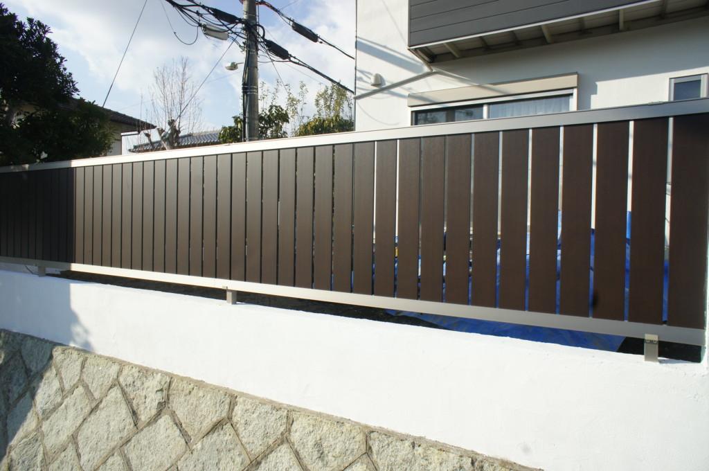 ブロック塀塗り・目隠しフェンス設置 (商品:リクシル セレビューフェンスRP3型)