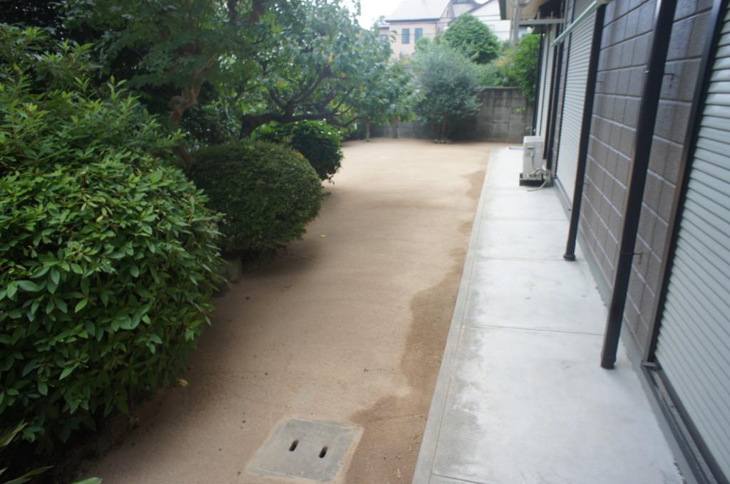 自然土 固まる土(マサキチ)施工