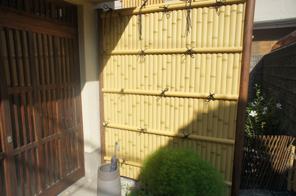 竹垣フェンス設置(タカショー・バンブーユニット・建仁寺垣)