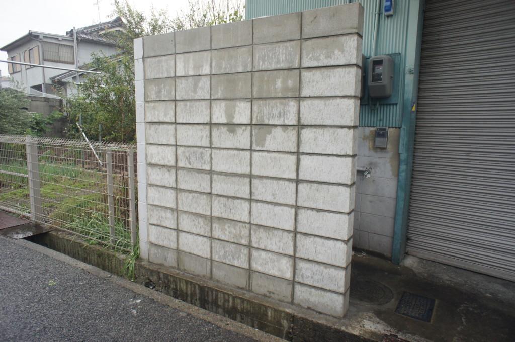 ブロック塀解体撤去後、新設工事