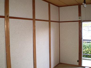 古壁の上から繊維壁リフォーム (ルームアップ施工)