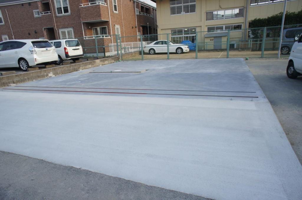 プレハブ倉庫 コンクリート工事
