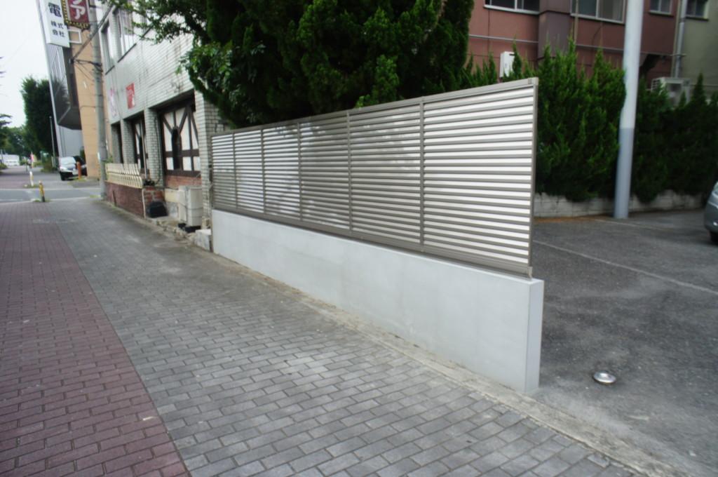 ブロック塀設置・ブロック増設・目隠しフェンス設置(四国化成・クレディフェンス6型)