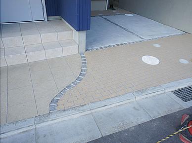 装飾性仕上舗装材施工(ラフ仕上) ~8,000円/m²