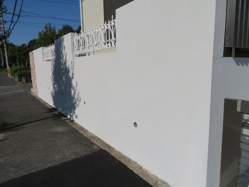 外壁リフォーム(ジョリパットα白施工)