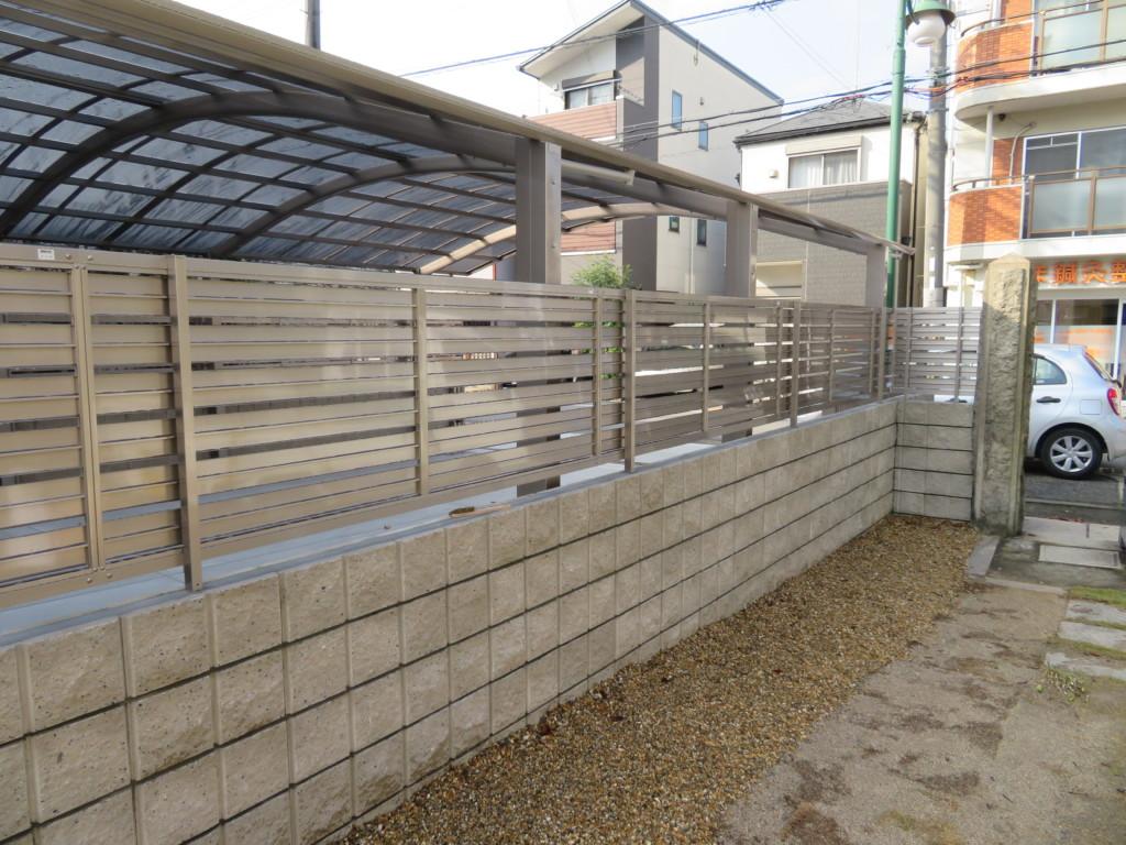 リブブリロック・フェンス設置