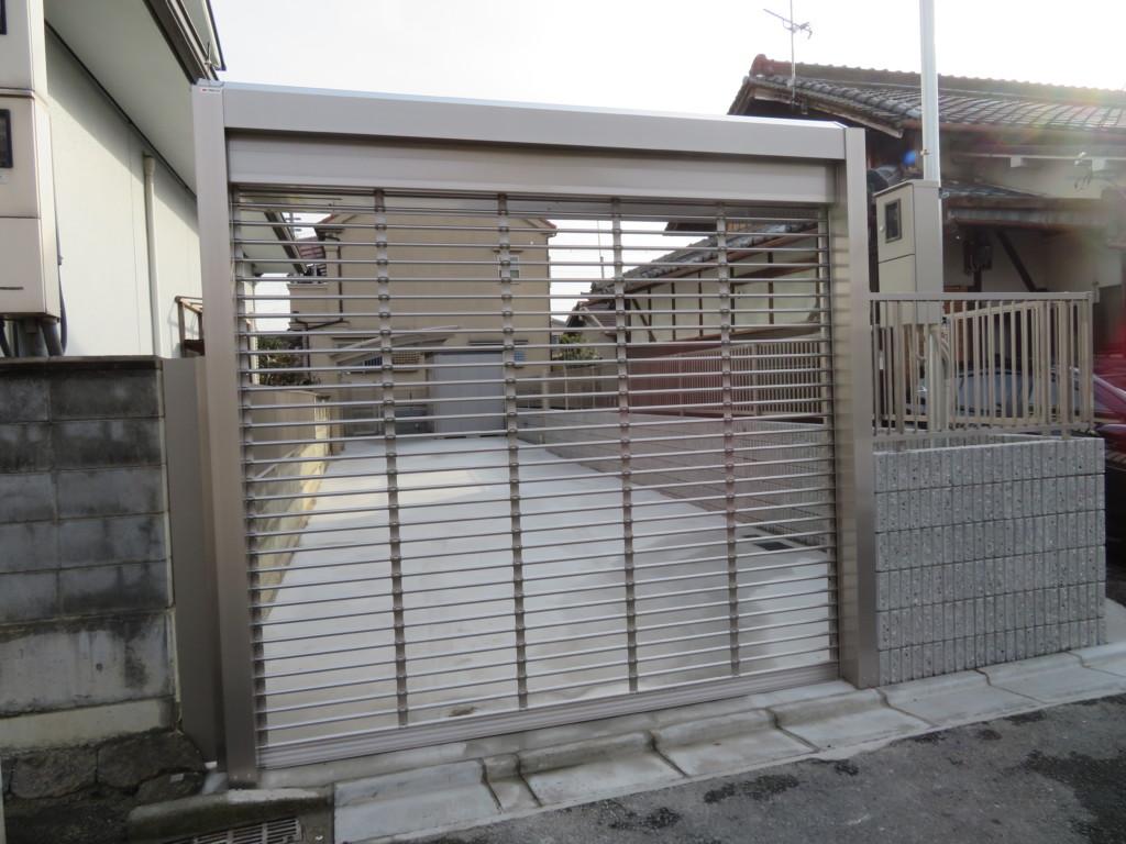 電動シャッター設置・コンクリート工事・カーポート設置等