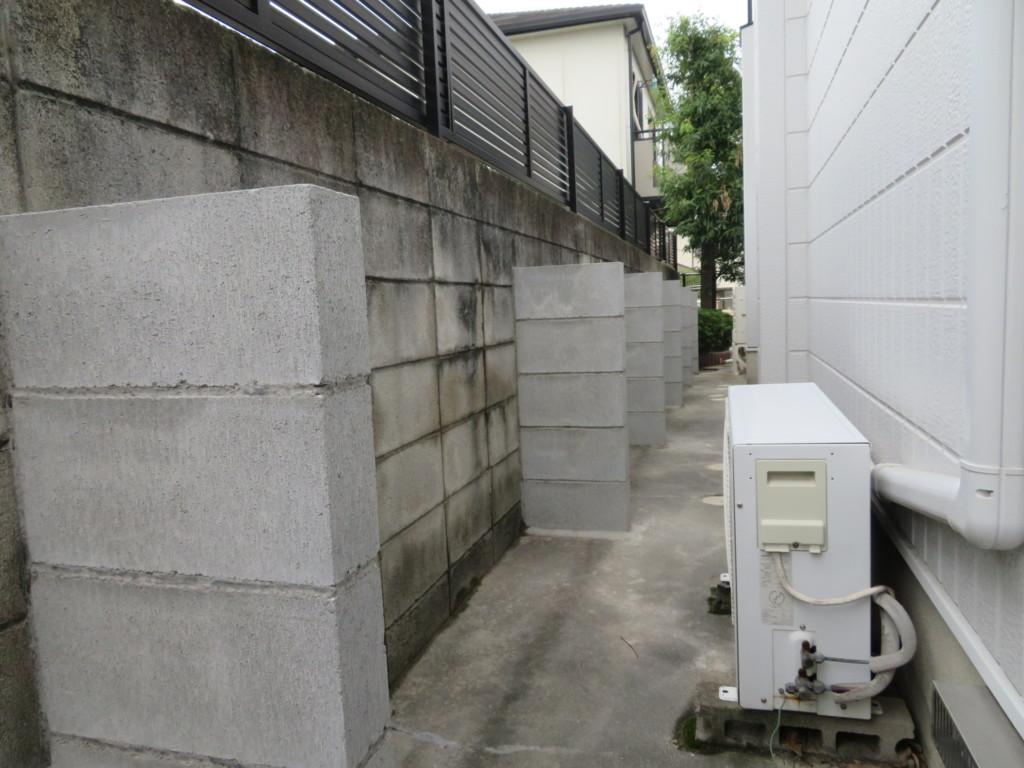 ブロック塀・控え壁設置工事