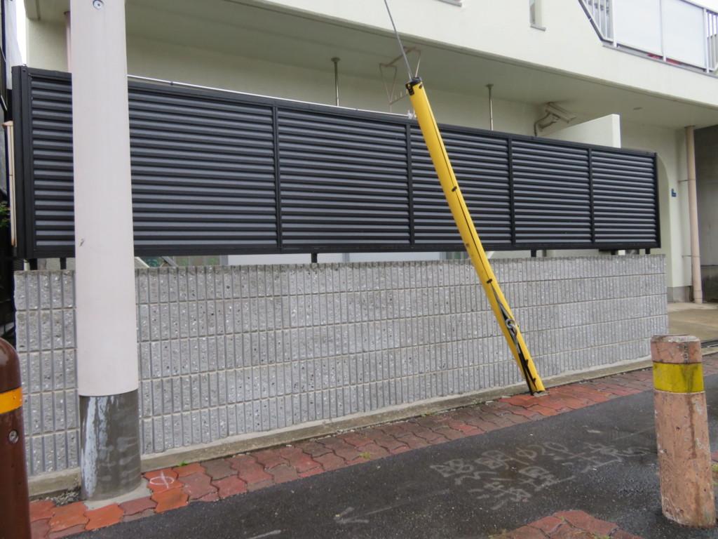 リブブロック設置・目隠しフェンス設置工事