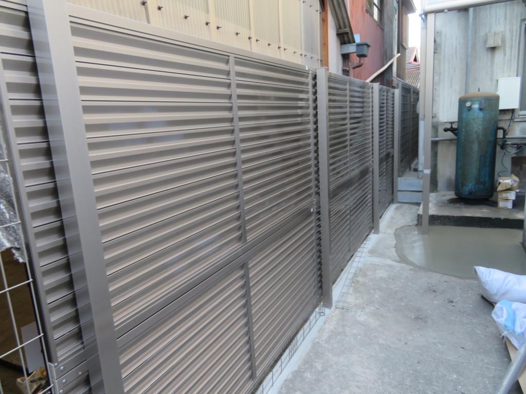 ブロック塀撤去・メッシュフェンス・目隠しフェンス設置工事