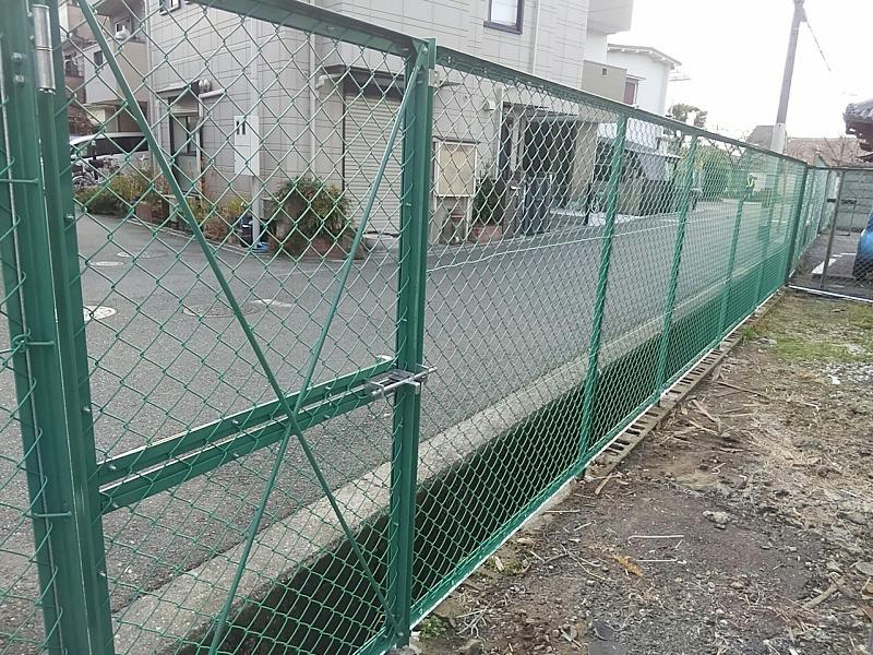 ネットフェンスH1800・門扉設置工事