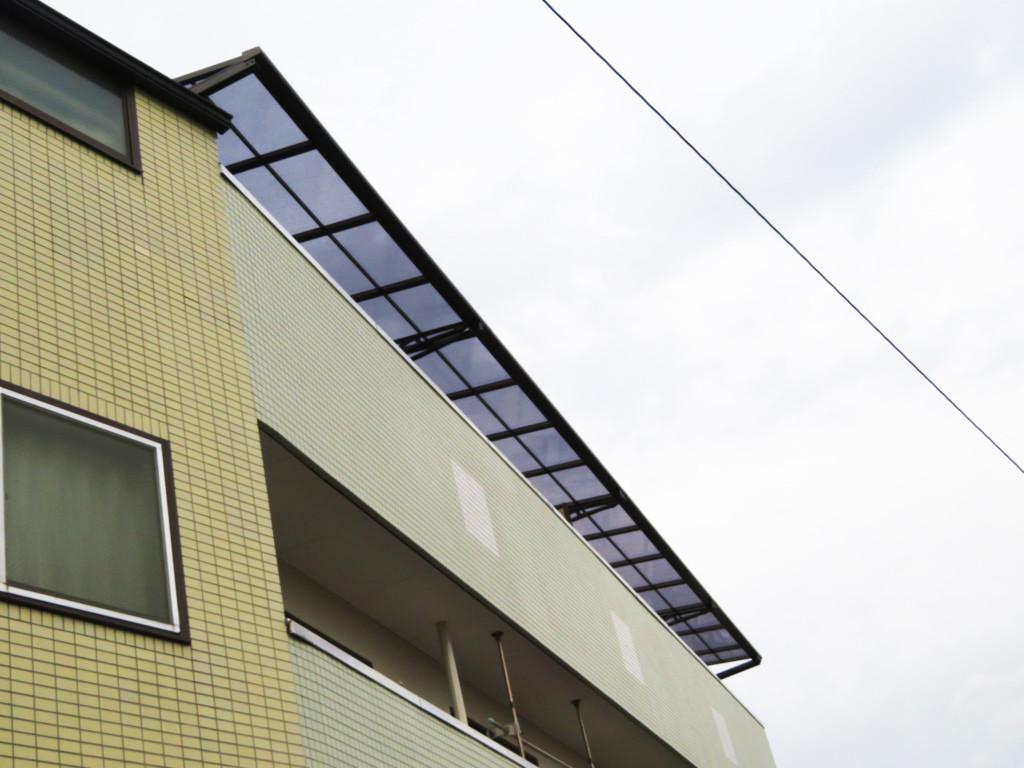 マンション3F・テラス屋根設置工事