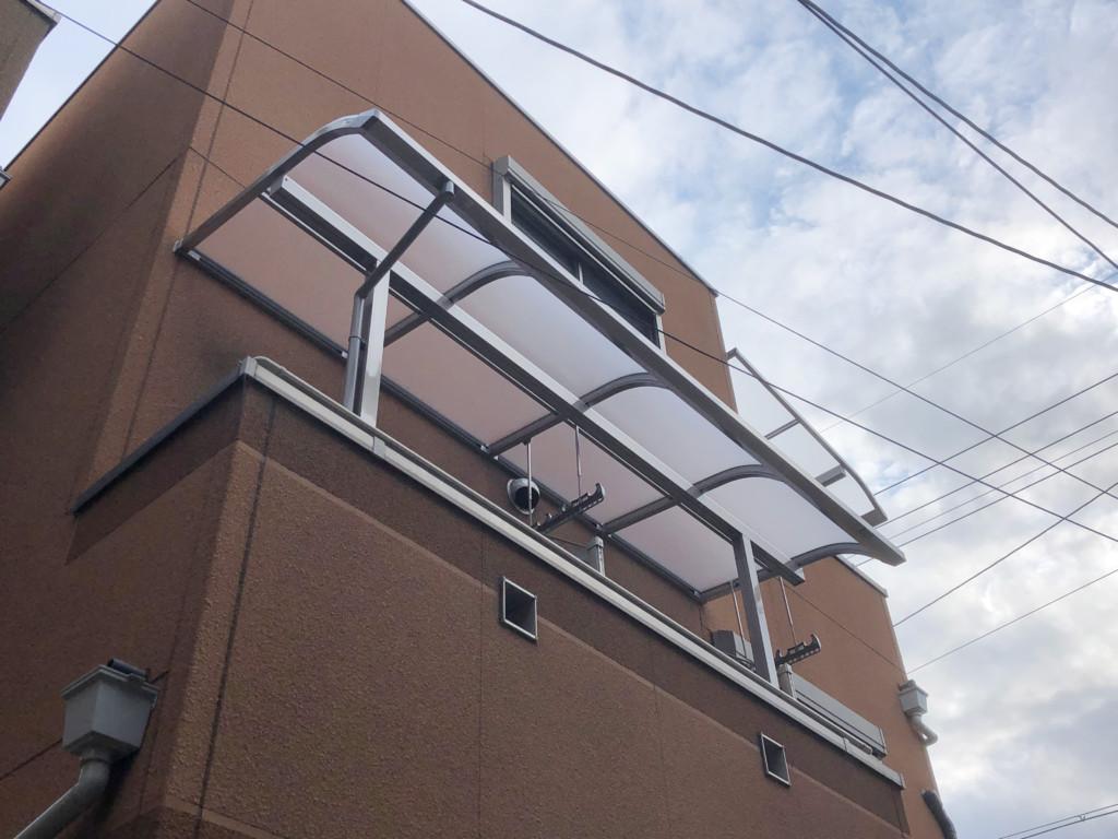 住宅2F・3Fテラス屋根設置