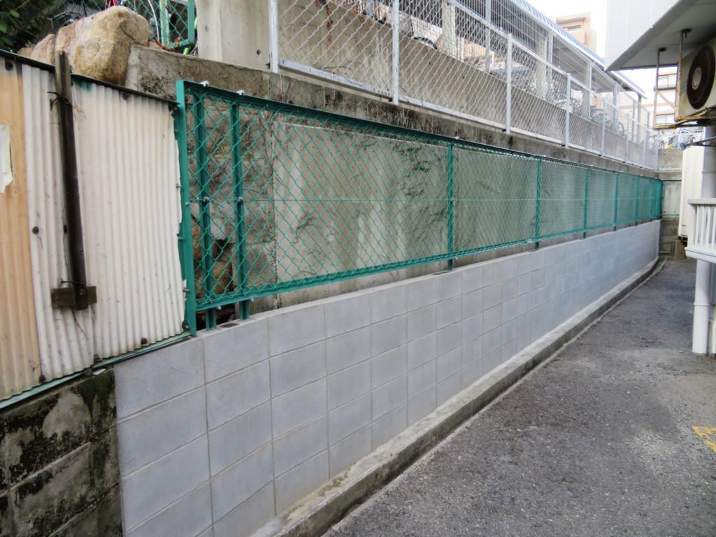 ブロック塀撤去・ネットフェンスH900設置工事