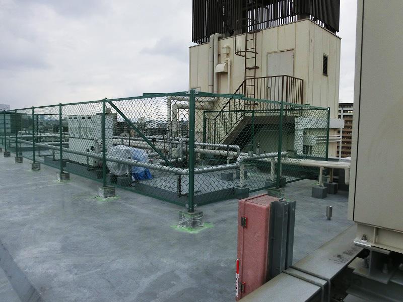 ネットフェンスH1500設置工事