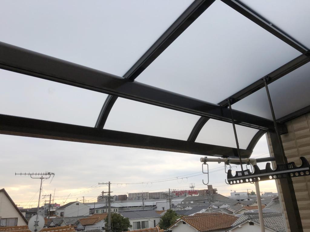 住宅3Fテラス屋根設置