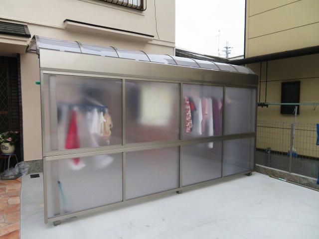 1Fテラス屋根・前面パネル設置