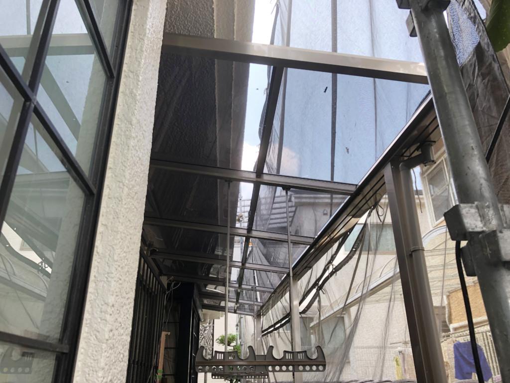 1Fテラス屋根設置