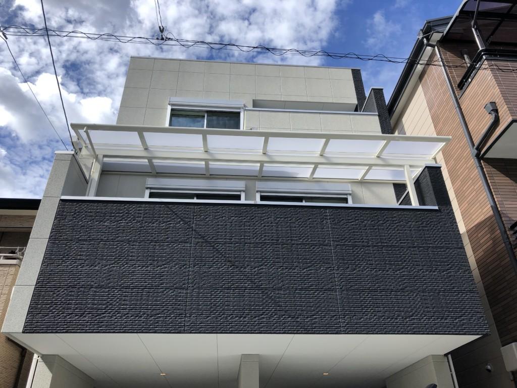 2Fベランダ・テラス屋根設置(2ヶ所)