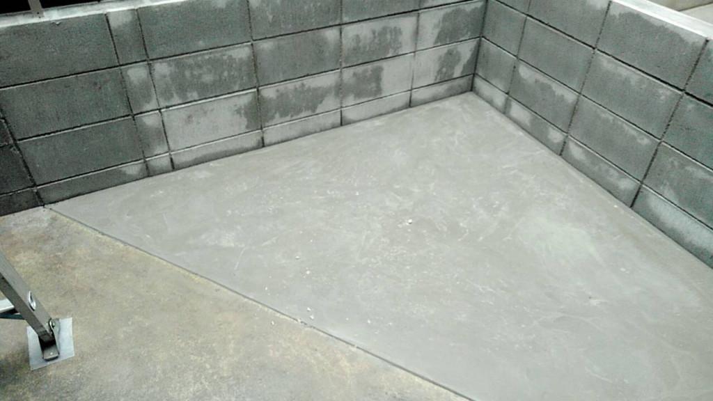 ブロック・フェンス設置、コンクリート打設