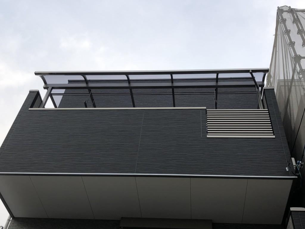 3Fベランダ・テラス屋根設置工事