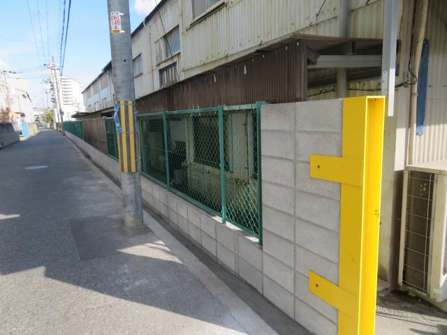 ブロック塀撤去・新設ブロック積み・ネットフェンス設置