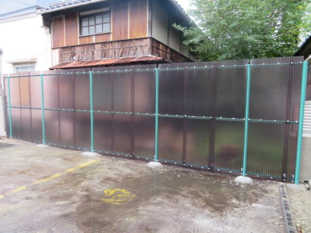 トタン屋根・壁撤去・一部ポリカ波板設置工事