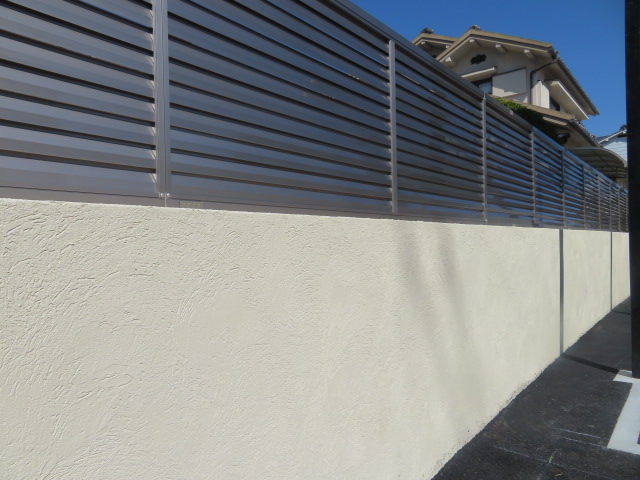 ブロック塀撤去・目隠しフェンス設置