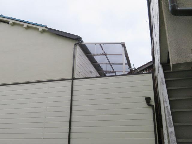 2Fベランダ・テラス屋根設置工事