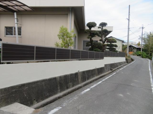 ブロック撤去・ブロック塀左官塗り・目隠しフェンス設置工事