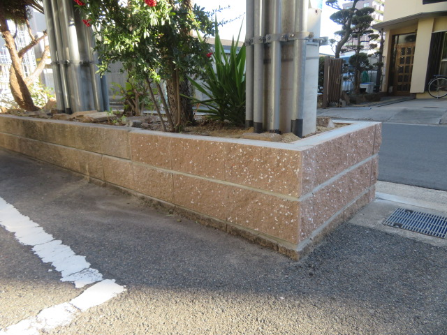 花壇ブロック交換工事