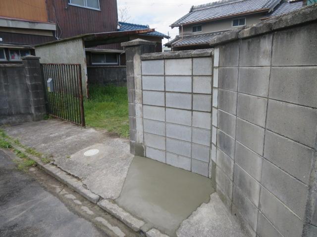 ブロック塀撤去・ブロック塀新設工事