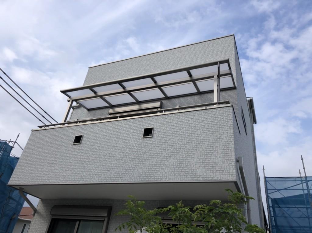 2Fベランダ・1F自転車置場・テラス屋根設置工事