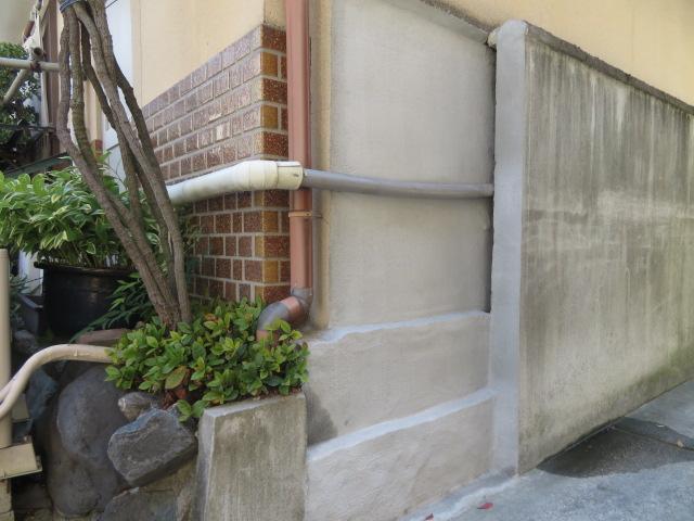 ブロック塀一部撤去工事