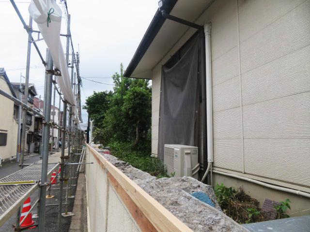 ブロック塀撤去工事